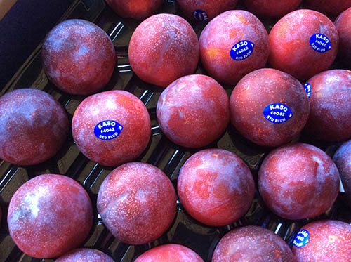 Red plums from Kaso Orchards